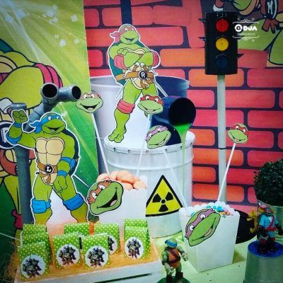 compleanno tema tartarughe ninja cristiano