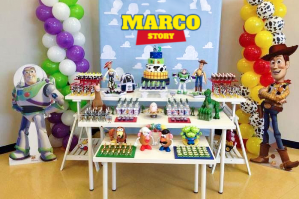 allestimento compleanno toy story