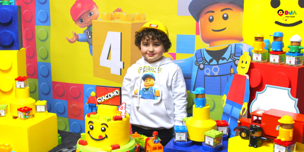 compleanno giacomo tema lego