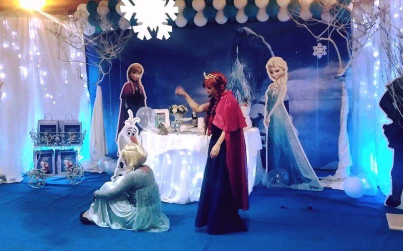 festa a tema frozen spettacolo
