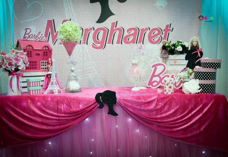 compleanno margharet a tema barbie allestimento