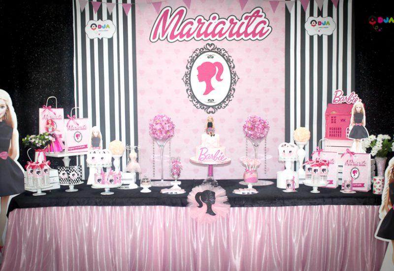 compleanno mariarita tema barbie allestimento