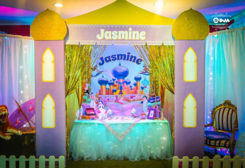 festa a tema jasmine allestimento tavolo
