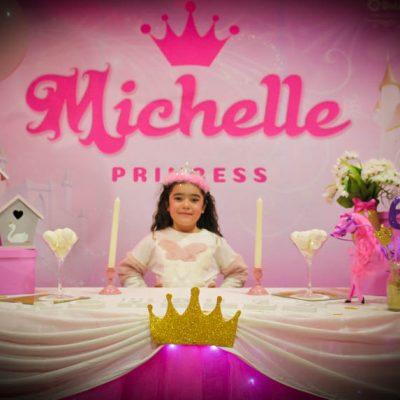 festa di compleanno michelle tema principesse