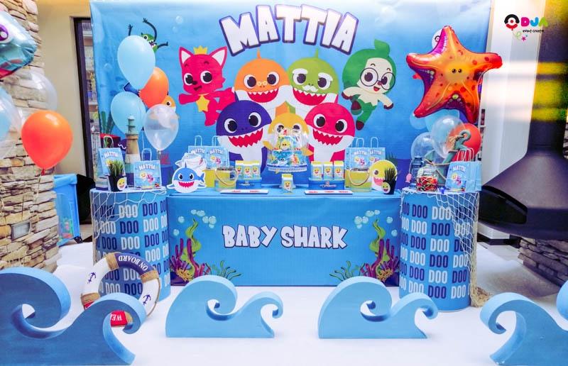 festa di compleanno mattia baby shark allestimento