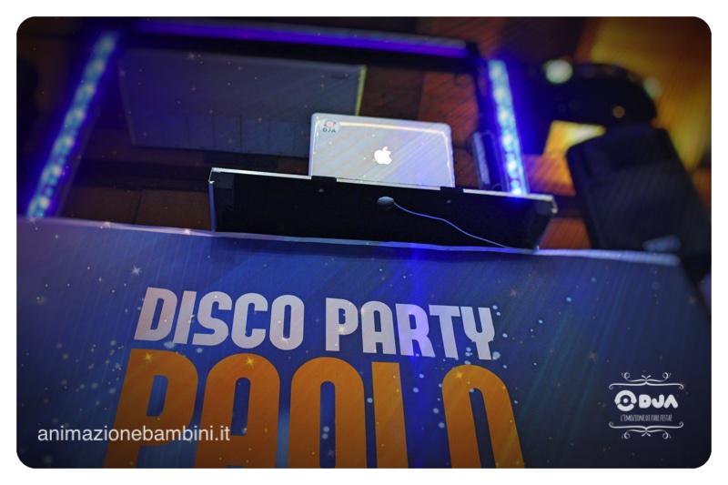 festa a tema disco party dj