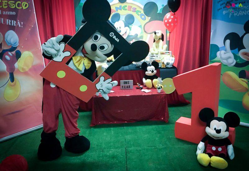 primo compleanno francesco a tema topolino