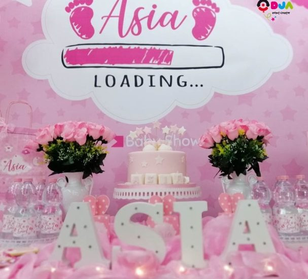 baby shower asia allestimento