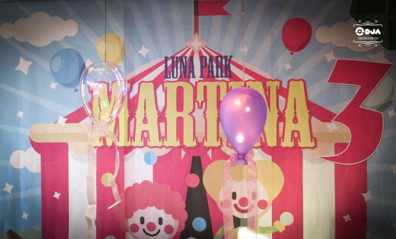 compleanno martina a tema luna park scenario