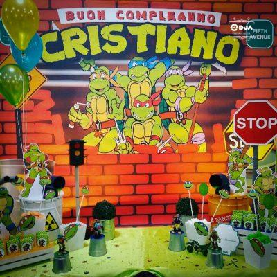 festa di compleanno cristiano a tema tartarughe ninja