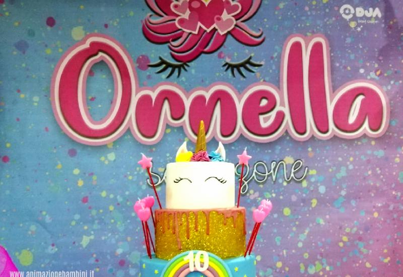 festa a tema unicorno slime ornella scenario