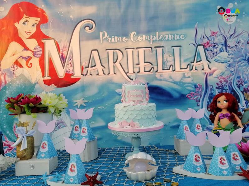 compleanno mariella tema ariel