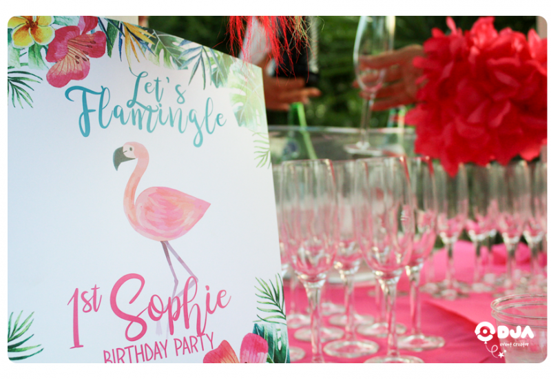 flamingo party compleanno sophie