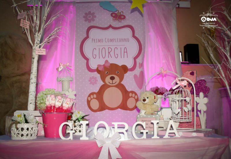 primo compleanno giorgia tema orsetti