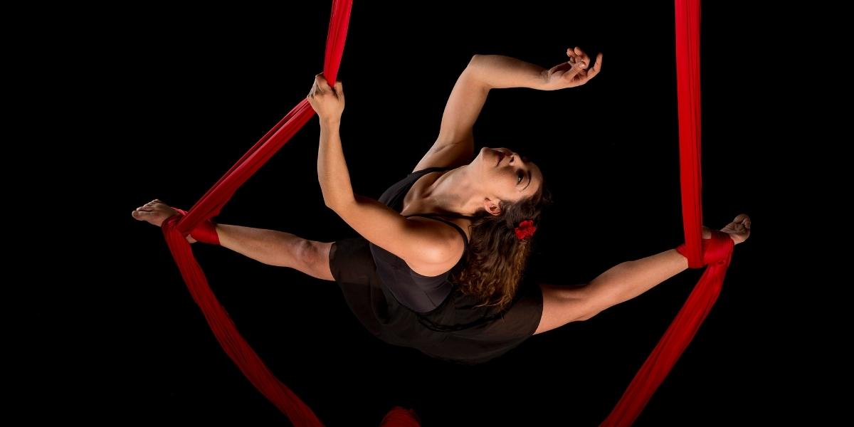 spettacolo danza aerea