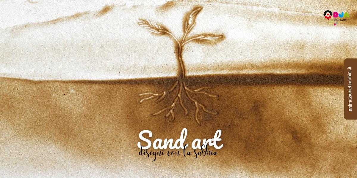 sand art disegni con la sabbia