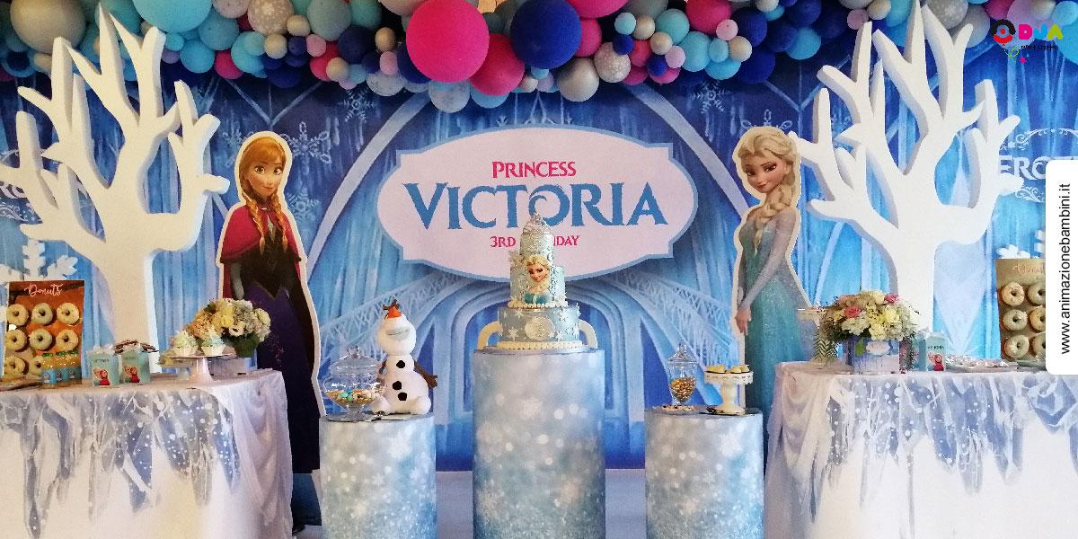 allestimento festa compleanno tema frozen
